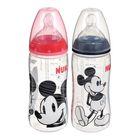Бутылочка для кормления First Choice Plus Mickey Mouse, размер М, 300 мл, от 6 мес., цвета МИКС