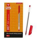 Ручка шариковая Flair 007 узел-игла 0.5 масляная основа, насечки в зоне хвата, стержень красный F-873