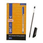 Ручка шариковая Flair 007 узел-игла 0.5 масляная основа, насечки в зоне хвата, стержень черный F-873