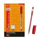 Ручка шариковая Flair Peach узел-игла 0.7, масляная основа, треугольный корпус, стержень красный F-1150
