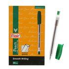 Ручка шариковая Flair Peach узел-игла 0.7, масляная основа, треугольный корпус, стержень зелен F-1150