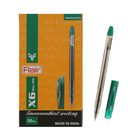 Ручка шариковая Flair X-6 узел-игла 0.6мм, масляная основа, стержень зеленый F-741