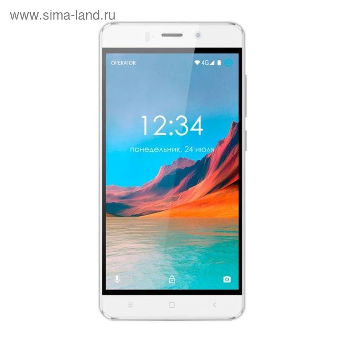 "Смартфон GINZZU S5220 White, 2 sim, 5,0"" IPS, 8Mp"