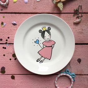 """Тарелка 20 см """"Маленькая королева"""" с бортами"""