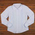 Блузка для девочки, рост 122 см, цвет белый ШФ 0056