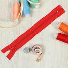 """Молния """"Спираль"""", №3, неразъёмная, G003P, 18см, цвет красный"""