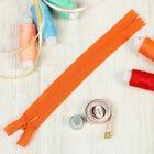 """Молния """"Спираль"""", №3, неразъёмная, потайная, G013P, 18см, цвет ярко-оранжевый"""