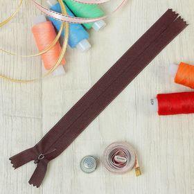 Молния 'Спираль', №3, неразъёмная, потайная, G013P, 18см, цвет шоколадный Ош