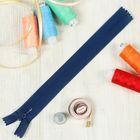 """Молния """"Спираль"""", №3, неразъёмная, потайная, G013P, 20см, цвет синий"""