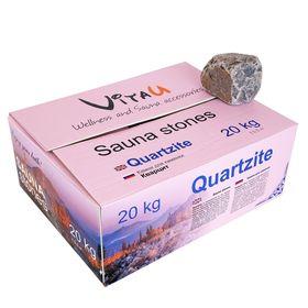 Камень для бани 'Quarzite', коробка 20 кг Ош