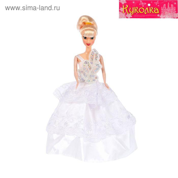 """Кукла модель """"Невеста"""" в свадебном платье, МИКС"""