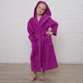 Халат махровый детский, размер 34, цвет розовый, 340 г/м2 хл.100% с AIRO