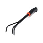 Рыхлитель, длина 34 см, 3 зубца, прорезиненная пластиковая ручка