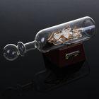 Корабль сувенирный в бутылке с белыми парусами «Держись своего курса», 8 х 20 х 5 см