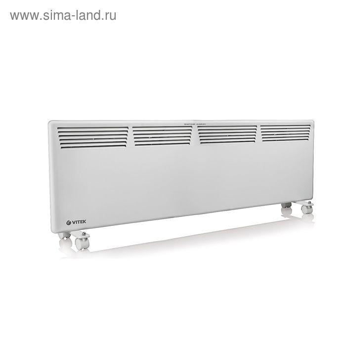 Тепловентилятор Vitek VT-2142 W, 2000 Вт, 25 кв.м., конвекторный, белый