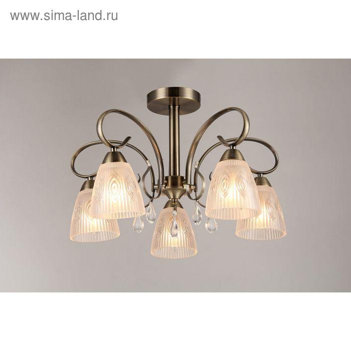 """Люстра """"Илайн"""" 5 ламп E14 40Вт античная бронза 53х53 см."""