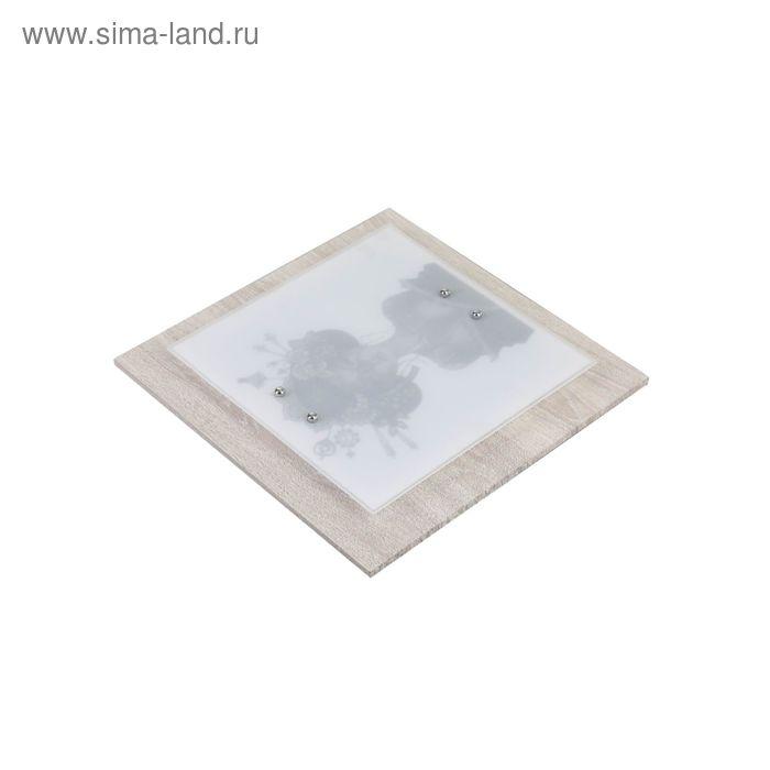 """Люстра настенно-потолочная """"Джина"""" 3 лампы E27 60Вт 40х40х9 см."""