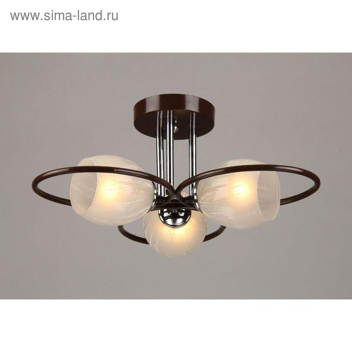 """Люстра """"Розелла"""" 3 лампы E27 40Вт кофе 52х41х27,5 см."""