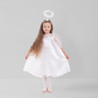 """Карнавальный костюм """"Ангел"""", платье, рукав 3/4 гипюр, нимб, крылья, р-р 32, рост 122-128 см"""
