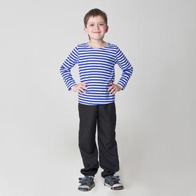 Карнавальная тельняшка-фуфайка военного детская размер 34 рост 134