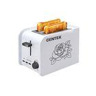 Тостер Centek CT-1427 800 Вт, 6 ур. мощности, на 2 тоста, белый