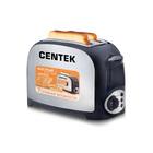 Тостер Centek CT-1421, 750 Вт,7 ур.мощн., стальной теплоизолирован. корпус, черный