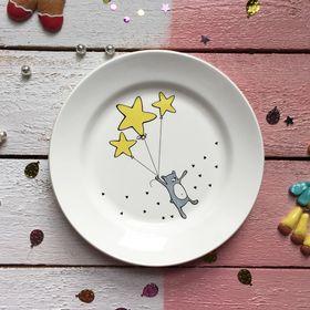"""Тарелка 20 см """"Звёздный мишка"""""""
