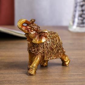 """Сувенир полистоун """"Слон с маской быка"""" 11х9,5х5 см"""