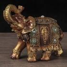 """Сувенир полистоун """"Слон с маской на попоне"""" 14х17,5х6 см"""