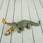 """Сувенир """"Крокодилу проверяют зубки"""" 22х7,5х8,5 см"""