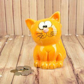 """Копилка керамика """"Рыжий кот"""" 14х8х8 см"""