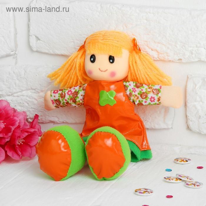 Мягкая игрушка кукла на платишке цветочек, цвета МИКС