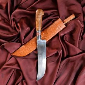 Пчак Шархон, рукоять из дерева (сухма), гарда из мельхиора Ош