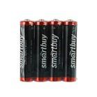 Батарейка Солевая  Smartbuy Super Heavy Duty, ААА, R03-4S, спайка, 4 шт.