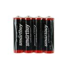 Батарейка Солевая  Smartbuy Super Heavy Duty, АА, R6-4S, спайка, 4 шт.