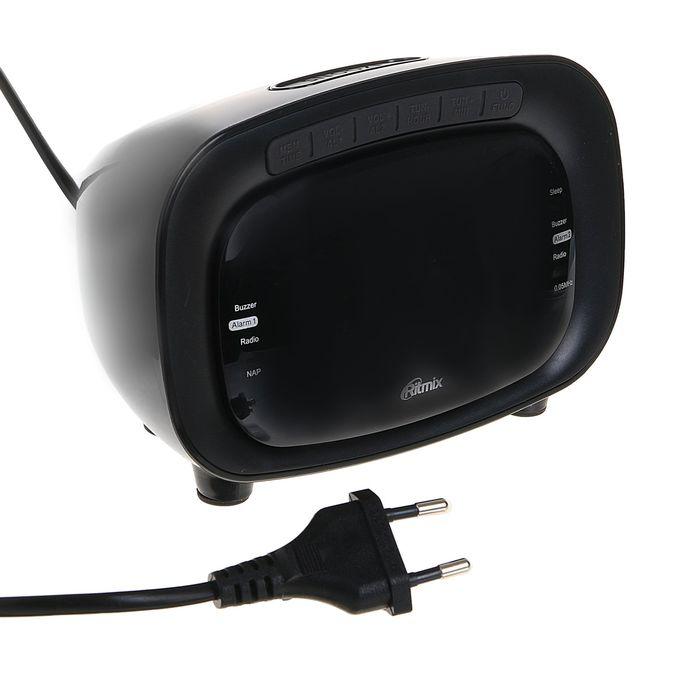 Часы-радиобудильник RITMIX RRC-1250 BLACK, чёрные