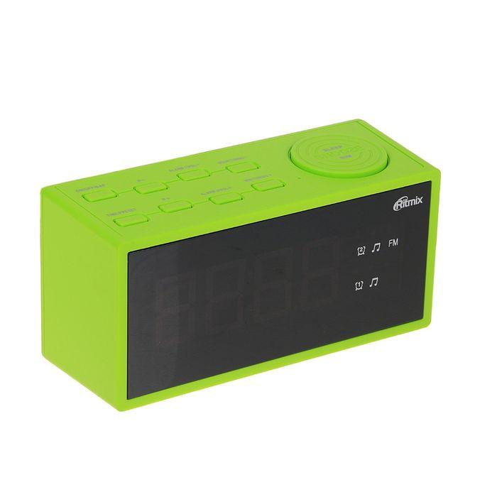 Часы-радиобудильник RITMIX RRC-1212 GREEN, зелёные