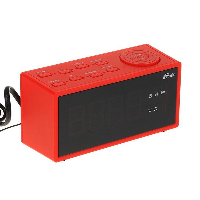 Часы-радиобудильник RITMIX RRC-1212 RED, красные