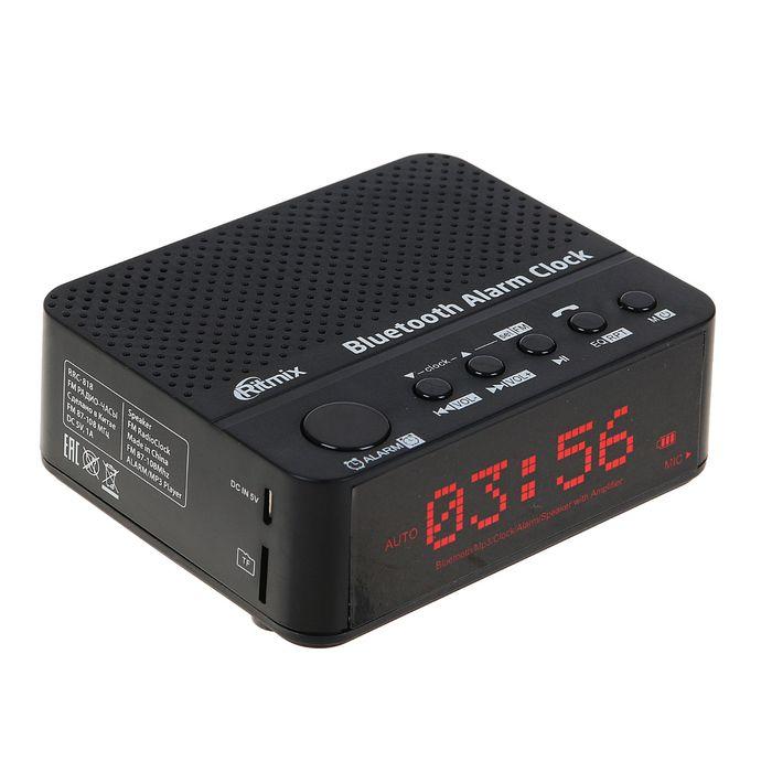 Часы-радиобудильник RITMIX RRC-818 BLACK, чёрные