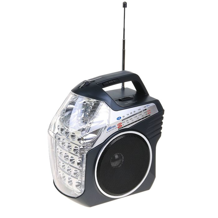 Радиоприёмник RITMIX RPR-505, функция MP3-плеера, аккумулятор, 2 фонаря