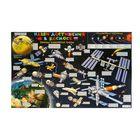 """Карта космическая детская """"Наши достижения в космосе"""" Кр681п (настенная карта на картоне)"""