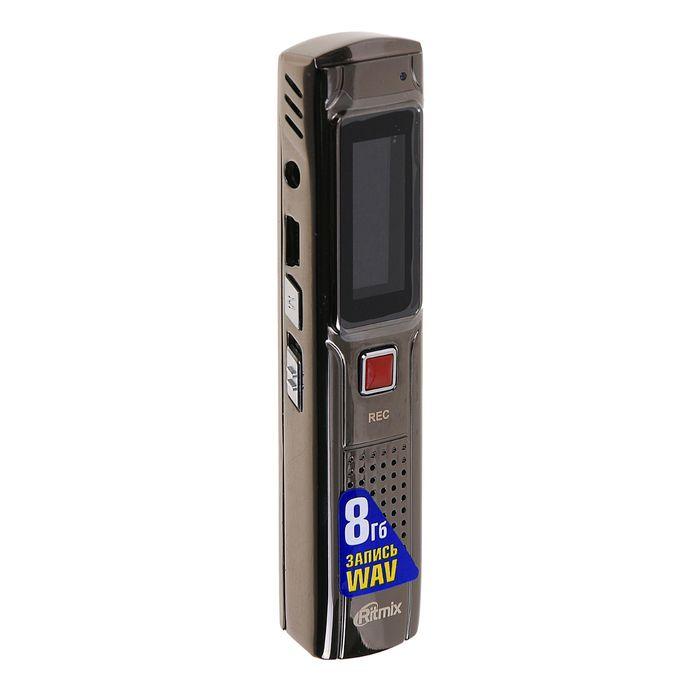 Диктофон RITMIX RR-110 8Gb, MP3, дисплей с подсветкой, литий-полимерный аккумулятор