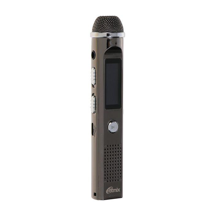 Диктофон RITMIX RR-150 8Gb, MP3, дисплей с подсветкой, FM-радио, металлический корпус