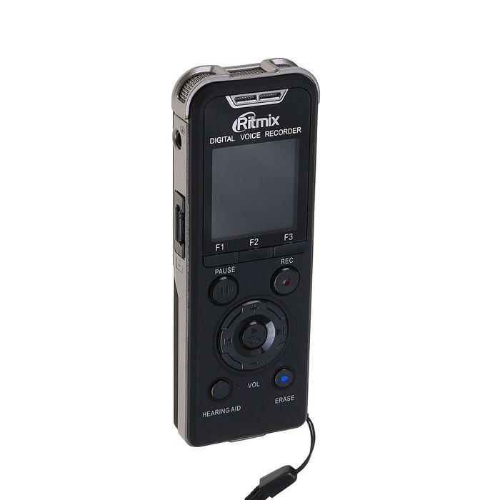 Диктофон RITMIX RR-980 4Gb, Mp3, WMA, FLAC, просмотр фото, запись тел. разговора, будильник