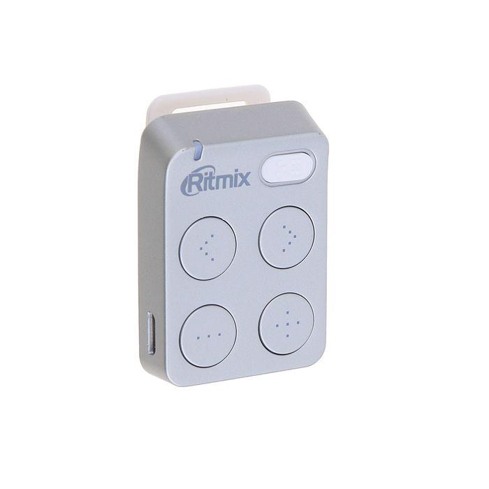 MP3 плеер RITMIX RF-2500 4Gb, кнопочное управление, клипса, card slot, цвет серебро