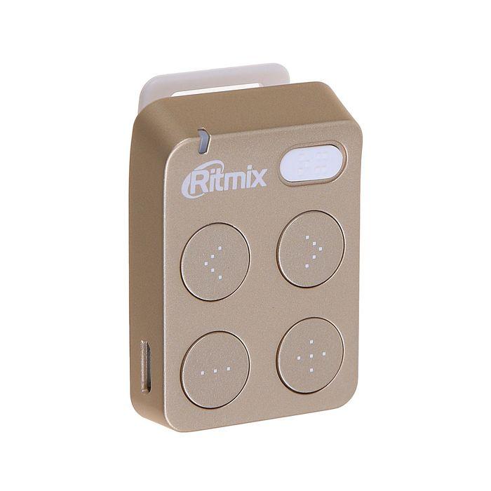 MP3 плеер RITMIX RF-2500 8Gb, кнопочное управление, клипса, card slot, цвет золото