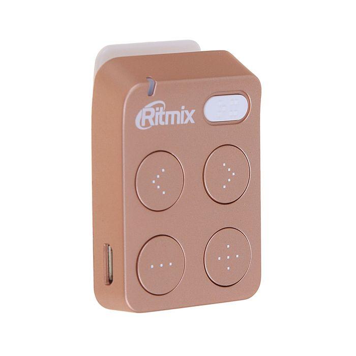 MP3 плеер RITMIX RF-2500 8Gb, кнопочное управление, клипса, card slot, розовый
