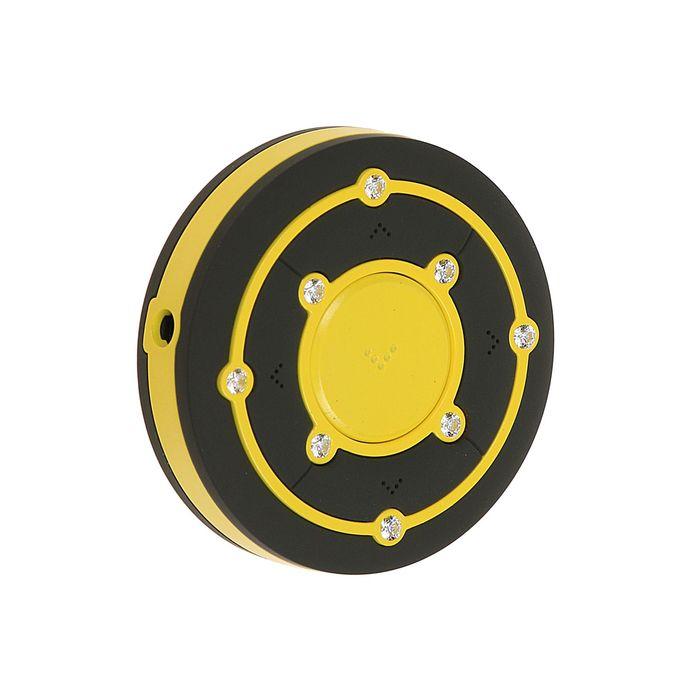 MP3 плеер RITMIX RF-2850 8Gb, клипса, Swarovski Zirconia, card slot, черно-желтый