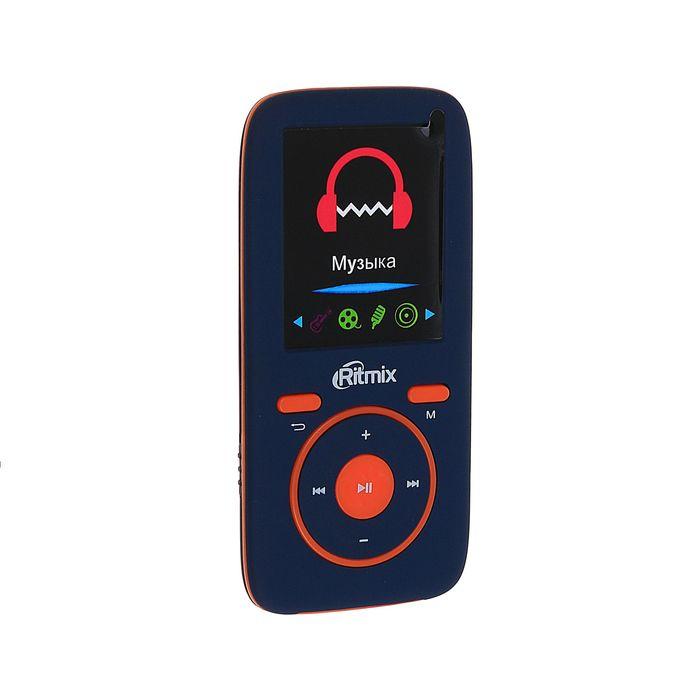 MP3 плеер RITMIX RF-4450 4Gb, дисплей, AMV/JPG/TXT, FM, диктофон, card slot, сине-оранжевый