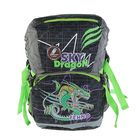 Рюкзак школьный эргономичная спинка для мальчика Sternbauer 39*27*19 чёрный/зелёный 5609